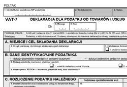 formularz vat-7
