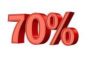 70 procent